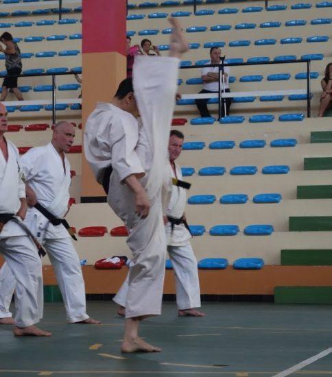7月15日に70歳になった大石代悟範士の試割(頭突き他)